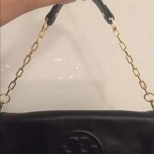 Tory Burch Reva Clutch Shoulder Bag Black